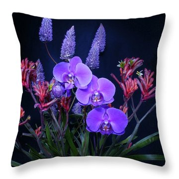 An Aussie Flower Arrangement Throw Pillow
