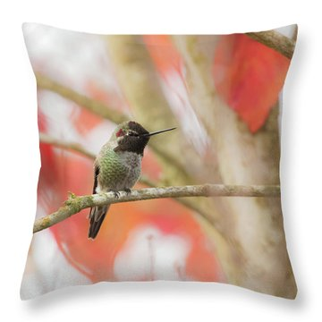 Throw Pillow featuring the photograph An Autumn Afternoon by Angie Vogel