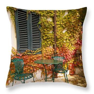 An Autumn Corner Throw Pillow by Rae Tucker