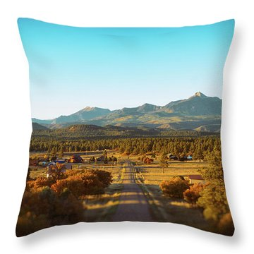An Autumn Evening In Pagosa Meadows Throw Pillow