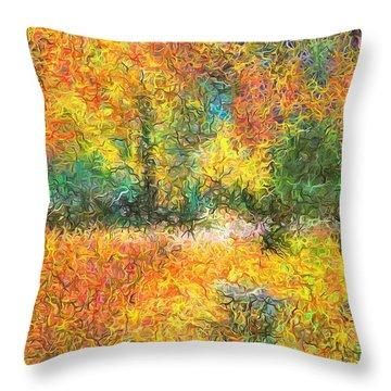 An Autumn In The Park Throw Pillow