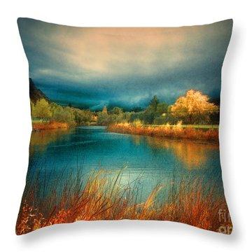 An Autumn Storm Throw Pillow