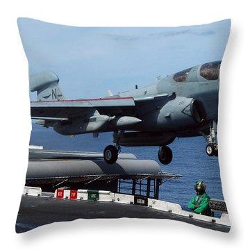 An Ea-6b Prowler Launches Throw Pillow