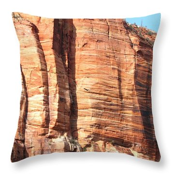 An Eagle Soars Throw Pillow by Will Borden