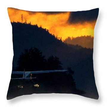 An Early Departure Throw Pillow by Mark Alan Perry