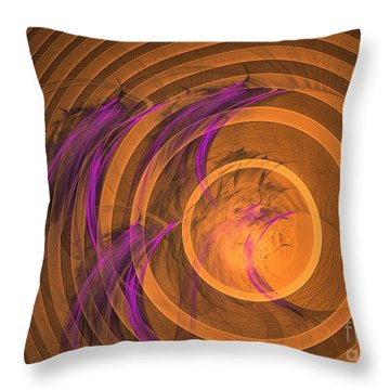 An Echo From The Past - Abstract Art Throw Pillow