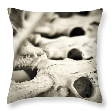 An Echo Of Mortality Throw Pillow by Rebecca Sherman