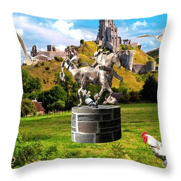 An Echo Of Past Time Throw Pillow