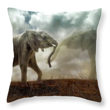 An Elephant Never Forgets Throw Pillow
