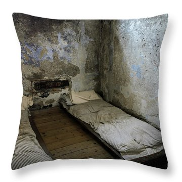 Throw Pillow featuring the photograph An Empty Cell In Cork City Gaol by RicardMN Photography