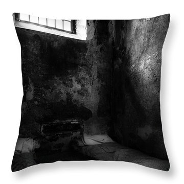 Throw Pillow featuring the photograph An Empty Cell In Old Cork City Gaol by RicardMN Photography