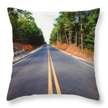 An Empty Road Throw Pillow