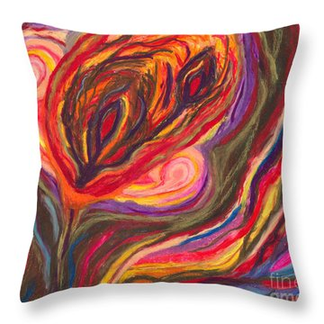 Throw Pillow featuring the painting An Ending by Ania M Milo