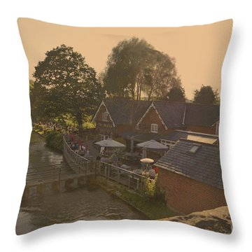 An English Public House Throw Pillow by Andrew Middleton