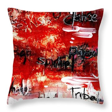 An Erotic Poem - Art And Words Throw Pillow