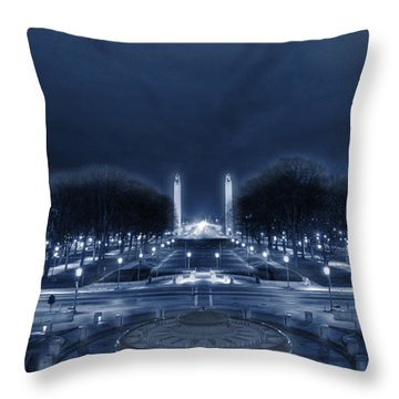 An Evening At The Capitol Throw Pillow