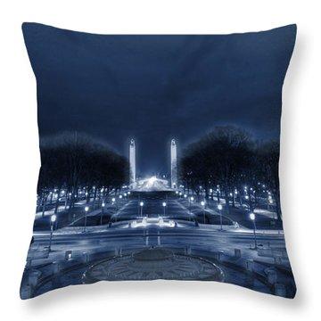 An Evening At The Capitol Throw Pillow
