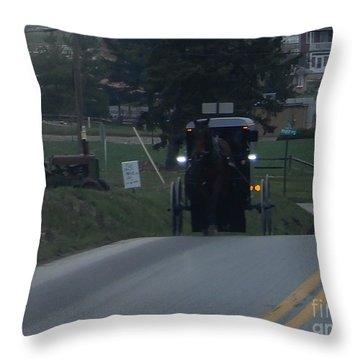 An Evening Commute Throw Pillow