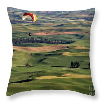 An Evening Flight Agriculture Art By Kaylyn Franks Throw Pillow