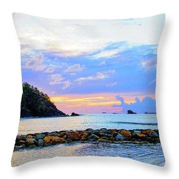 An Evening Glow Throw Pillow