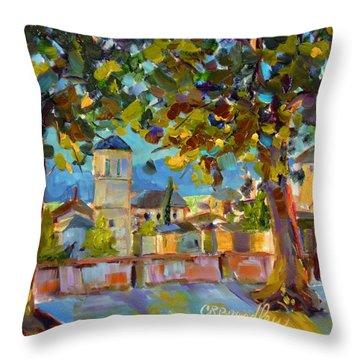 An Evening In Assisi Throw Pillow