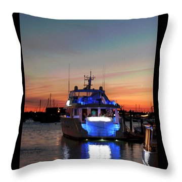 Throw Pillow featuring the photograph An Evening In Newport Rhode Island IIi by Suzanne Gaff