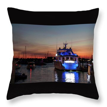 Throw Pillow featuring the photograph An Evening In Newport Rhode Island Iv by Suzanne Gaff
