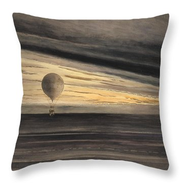An Evening Over Paris Throw Pillow