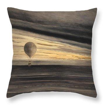 An Evening Over Paris Throw Pillow
