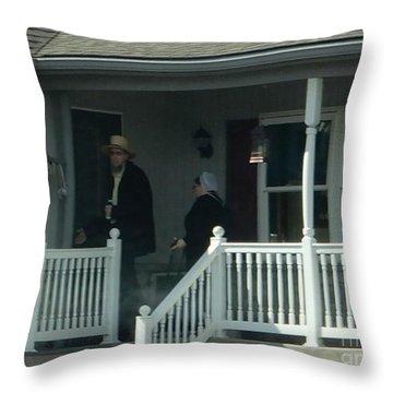 An Evening Visit Throw Pillow