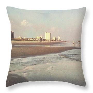 An Evening Walking The Grand Strand Throw Pillow