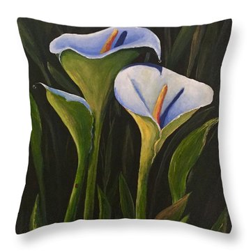 An Evening With Calla Throw Pillow