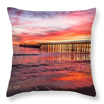 Seacliff Sunset Throw Pillow