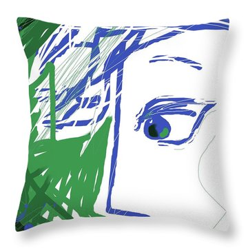 An Eye's View Throw Pillow by Mary Armstrong