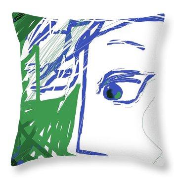 An Eye's View Throw Pillow