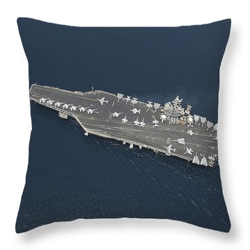 An F-14b Tomcat Launches Off Uss George Throw Pillow