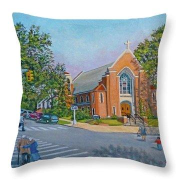 An Historical Church Throw Pillow