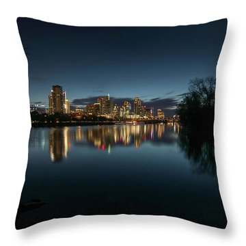 An Hour Before Sunrise Throw Pillow