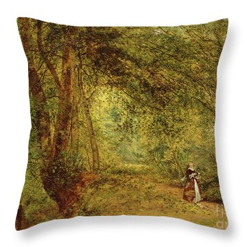 An Hour With The Poet In The Leafy Month Of June Throw Pillow