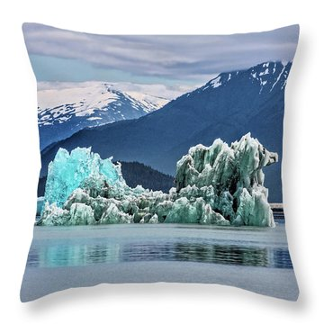 An Iceberg In The Inside Passage Of Alaska Throw Pillow