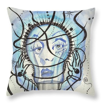 An Idea Throw Pillow by Darren Cannell