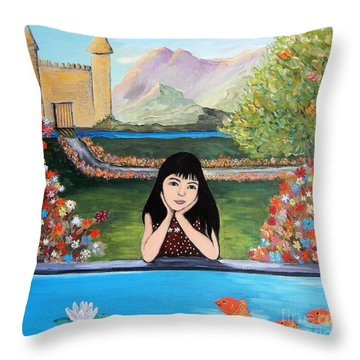 An Imaginative Mind Throw Pillow by Reb Frost