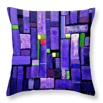 An Iris For The Master Throw Pillow