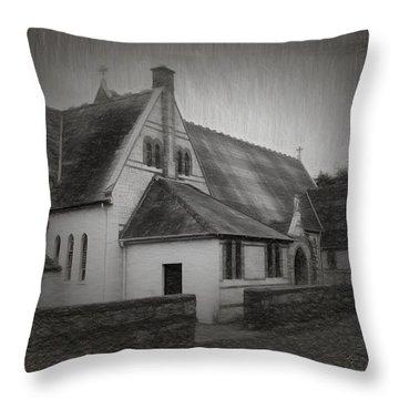 An Irish Church Throw Pillow by Dave Luebbert