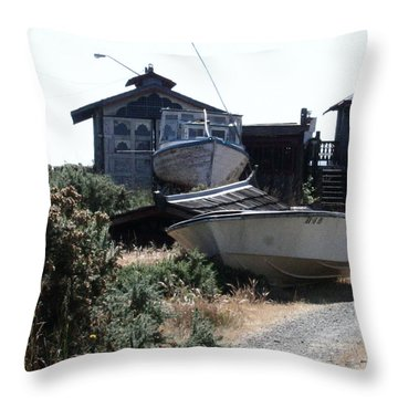 An Island Memory Throw Pillow