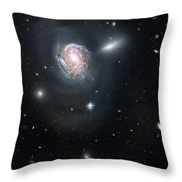 Throw Pillow featuring the photograph An Island Universe In The Coma Cluster by Nasa
