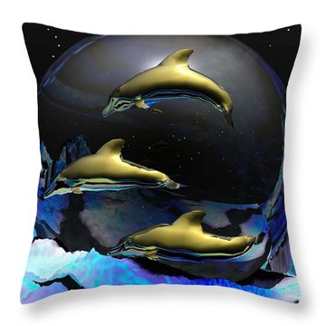 An Ocean Full Of Tears Throw Pillow by Robert Orinski