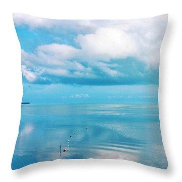 An Ocean Like Glass Throw Pillow