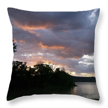 Throw Pillow featuring the photograph An Ohio River Valley Sunrise by Skyler Tipton