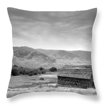 An Old Barn Throw Pillow by Mark Alan Perry